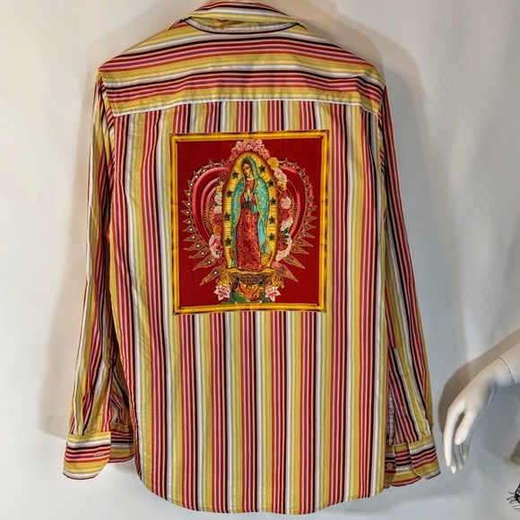 refashioned Other - Our Lady Of Guadalupe Refashioned Dress Shirt OOAK